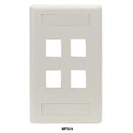 Black Box GigaStation2 Wallplate, 12-Port Dual-Gang, Office White WPT492