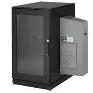 Black Box ClimateCab NEMA 12 Server Cabinet with M6 Rails and 8000-BTU AC Unit - CC24U8000M631-R2