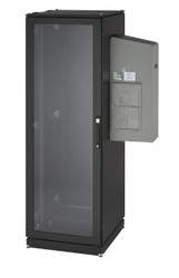 Black Box ClimateCab NEMA 12 Server Cabinet with Tapped Rails and 5000-BTU AC Un CC42U5000T-230-R2