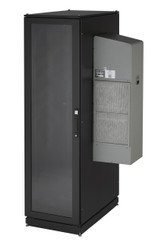 Black Box ClimateCab NEMA 12 Server Cabinet with Tapped Rails and 12000-BTU AC U CC42U12000T-R2