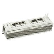 Black Box Prewired Modular Jack Block, T568B, (6) 8-Wire 31069