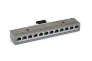 Black Box 10BASE-T Harmonica, (12) RJ-45 4-Wire Female, (1) Telco 50 Male 36453