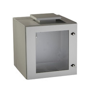 Black Box ClimateCab NEMA 12 Wallmount Cabinet with Fan - Beige, Double-Hinged RMW5100AF