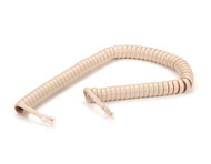 Black Box RJ-22 Modular Coiled Handset Cord, Ivory, 6-ft. (1.8-m) EJ301-0006