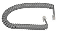 Black Box RJ-22 Modular Coiled Handset Cord - Dark Gray, 6-ft. (1.8-m) EJ302-0006