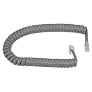 Black Box RJ-22 Modular Coiled Handset Cord - Dark Gray, 12-ft. (3.6-m) EJ302-0012