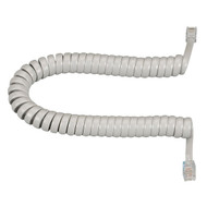 Black Box RJ-22 Modular Coiled Handset Cord, Light Gray, 12-ft. (3.6-m) EJ303-0012