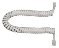 Black Box RJ-22 Modular Coiled Handset Cord, Light Gray, 6-ft. (1.8-m) EJ303-0006