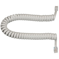 Black Box RJ-22 Modular Coiled Handset Cord, Light Gray, 25-ft. (7.6-m) EJ303-0025