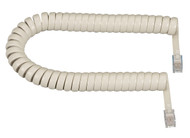Black Box RJ-22 Modular Coiled Handset Cord, Cream, 6-ft. (1.8-m) EJ307-0006