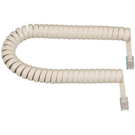 Black Box RJ-22 Modular Coiled Handset Cord, Cream, 25-ft. (7.6-m) EJ307-0025