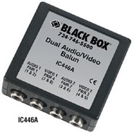 Black Box Dual Audio/Video Balun IC446A