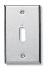 Black Box Stainless Steel Wallplate, DB15, Single-Width, 1-Punch WP080