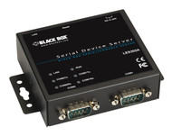 Black Box 2-Port 10/100 Device Server, RS-232/422/485, DB9 M LES302A
