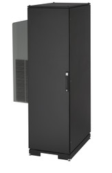 Black Box ClimateCab NEMA 12 Server Cabinet with Tapped Rails and 12,000-BTU AC CC42U12000T-230-R2