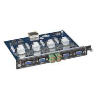 Black Box Modular Video Matrix Switcher Input Card - VGA, Component, Composite, AVS-4I-VGA