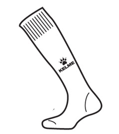 Garra Sock White/Black
