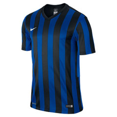 STRIPED JERSEY S/S BLACK/ROYAL BLUE/BLACK