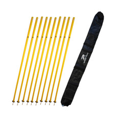 AGILITY POLE SET 10 W/CARRY BAG
