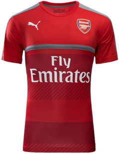 ARSENAL TRAINING JERSEY S/S RED