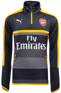 ARSENAL 1/4 ZIP TRAINING TOP L/S GREY
