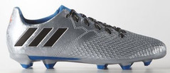 MESSI 16.3 FG J SILVER/BLACK/BLUE
