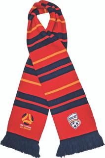 Adelaide United Rib-Knit Scarf