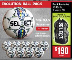 EVOLUTION BALL PACKS