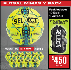 MIMAS YELLOW  FUTSAL BALL PACK