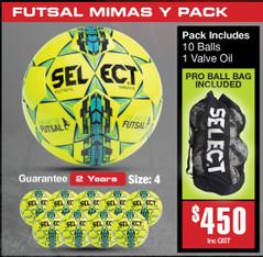 MIMAS YELLOW  FUTSAL BALL PACK