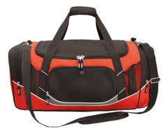 Atlantis Sports Bag Black/Red/White/Charcoal