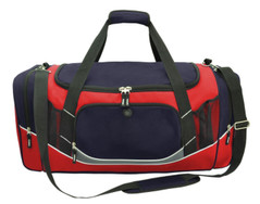 Atlantis Sports Bag Navy/Red/White/Charcoal