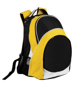 Harvey Back Pack Black/White/Gold