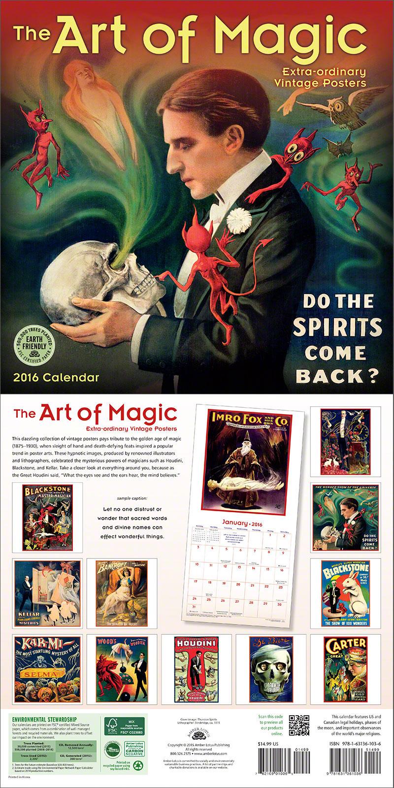 Art of Magic 2016 Wall Calendar