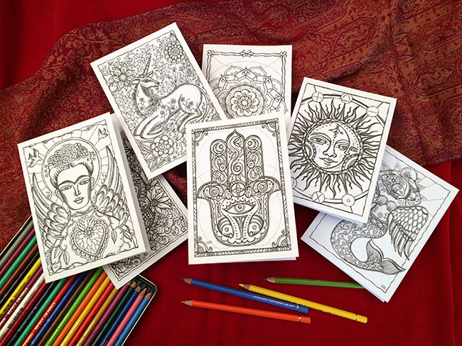 Magical Coloring Cards