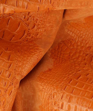 Croc Suede Orange