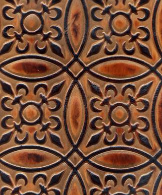 Circle Tile Medium Brown