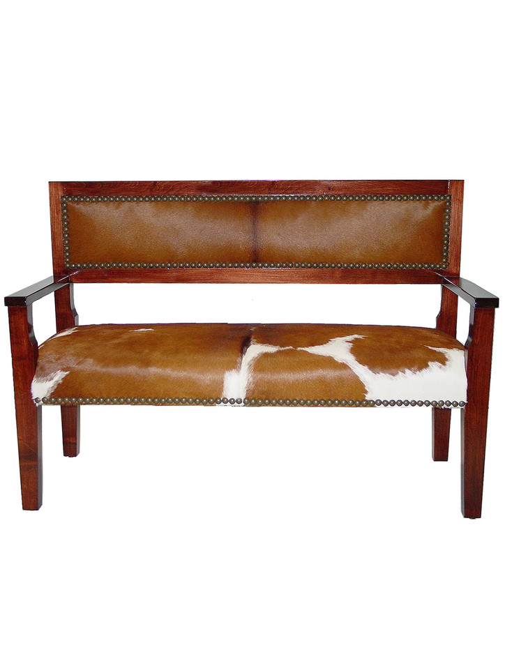 5417 Wood Bench With Arms Rags