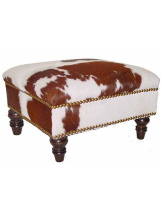 9046A Square Ottoman with Turned Leg
