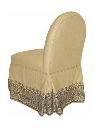 V5606 Curved Back Vanity Chair