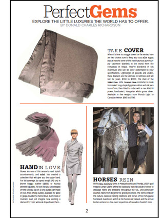 Luxury Living Magazine Winter 2012