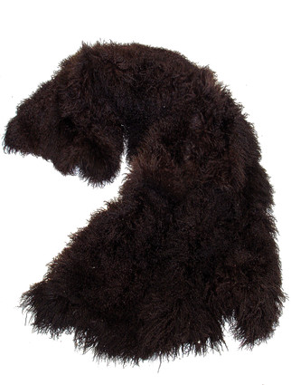 Chocolate Tibetan Lamb Fur Throw