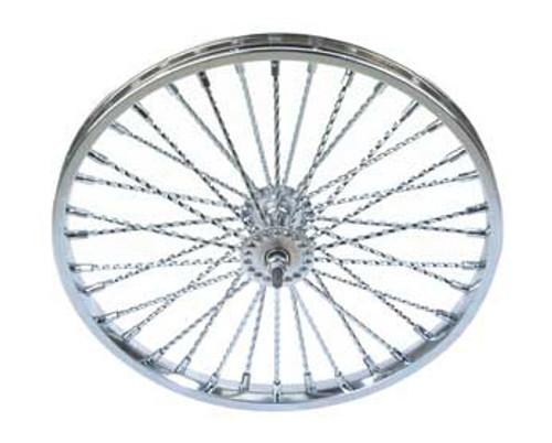 36 Twisted Spoke Front 26 Chrome Lowrider Wheels 36 Twisted Spoke