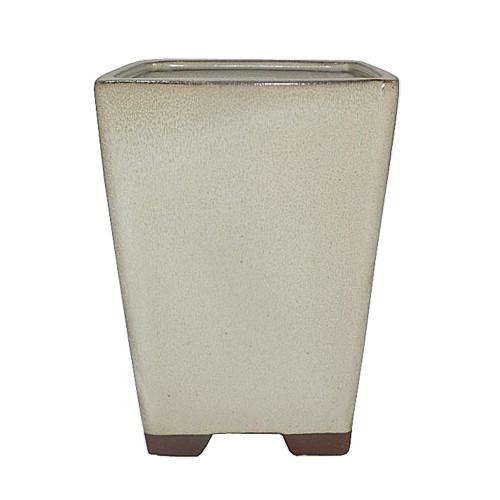 Glazed Square Cascade Bonsai Pot