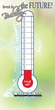 Church Banner featuring Thermometer/Fund Goal - CUSTOMIZE for FREE