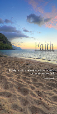 Church Banner featuring Ke`e Beach Kauai at Sunset with Faith Theme