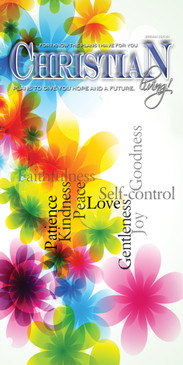 Church Banner featuring Spring Flower Design with Christian Living Theme