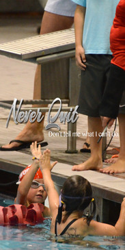 Church Banner featuring Two Young Female Swimmers with Sportsmanship Theme