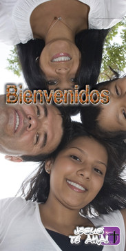 Spanish Church Banner featuring Young People with Welcome Theme