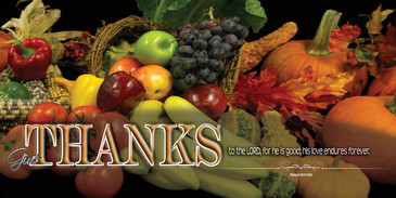 Church Banner Thanksgiving H101